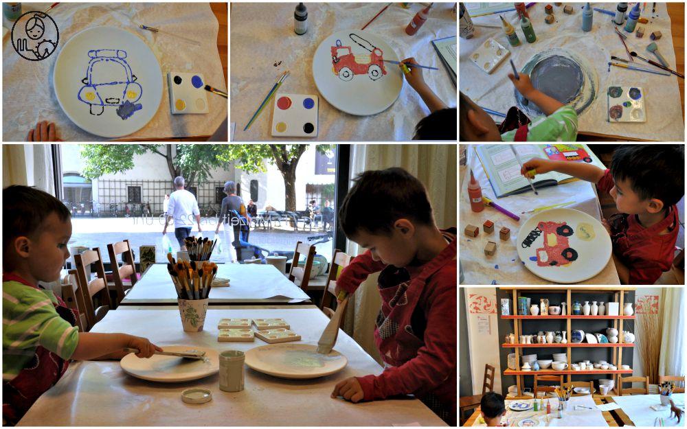 froh-Bund-bunte-malowanie-ceramiki