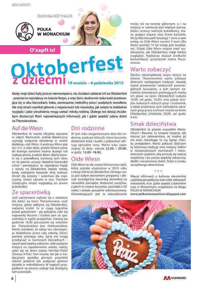 Oktoberfest z dziecmi Polka w Monachium